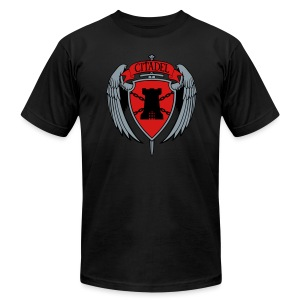 Citadel Crest Men's Slim T-Shirt  - Men's T-Shirt by American Apparel