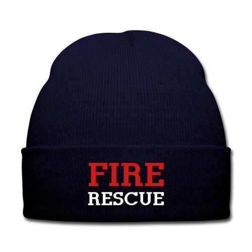 FIRE RESCUE beanie - Knit Cap with Cuff Print