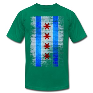 Chicago Flag Faded - Men's Fine Jersey T-Shirt