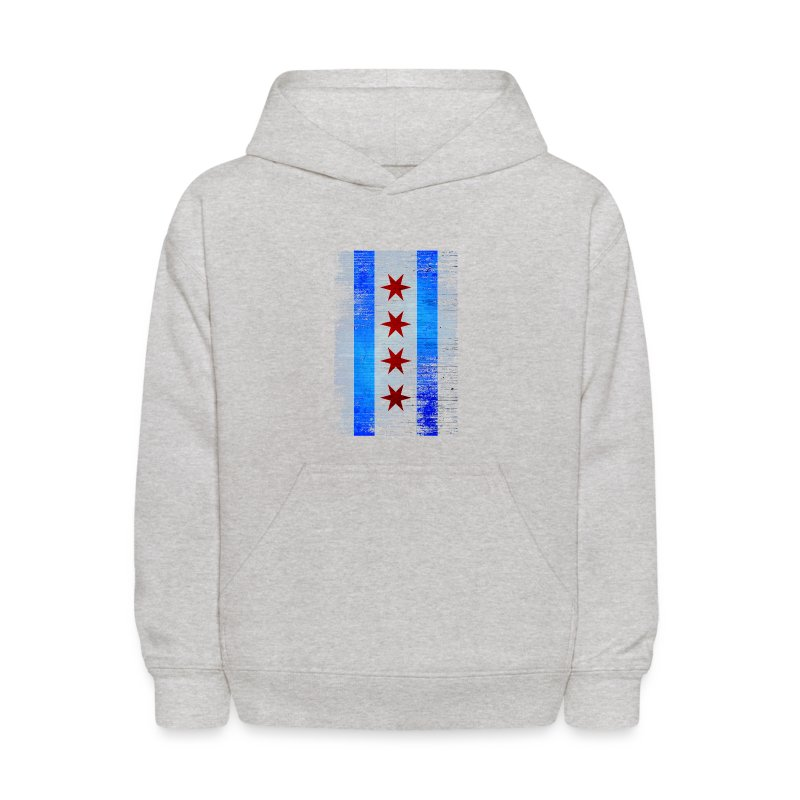 Chicago Flag Faded - Kids' Hoodie