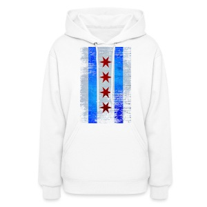 Chicago Flag Faded - Women's Hoodie