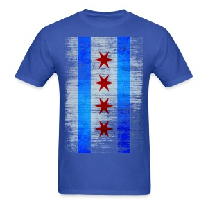 Chicago Flag Faded - Men's T-Shirt