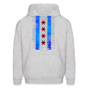 Chicago Flag Faded - Men's Hoodie