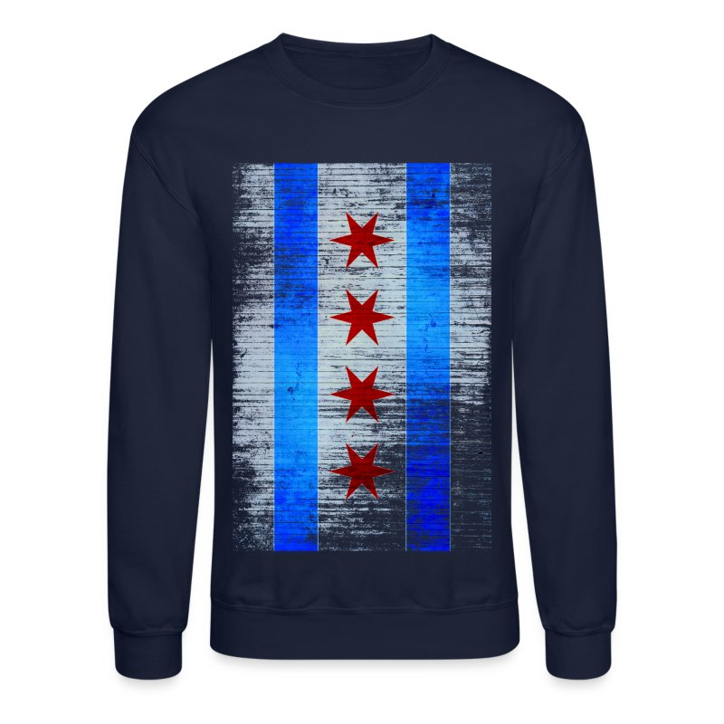 Chicago Flag Faded - Crewneck Sweatshirt