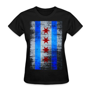 Chicago Flag Faded - Women's T-Shirt