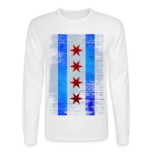 Chicago Flag Faded - Men's Long Sleeve T-Shirt