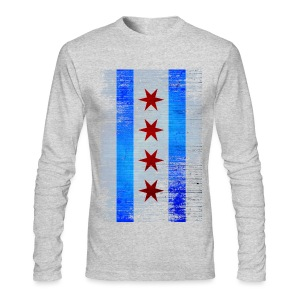 Chicago Flag Faded - Men's Long Sleeve T-Shirt by Next Level