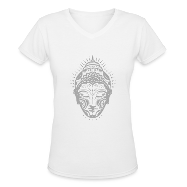 Buddha head decorated with ornaments  Women's T-Shirts