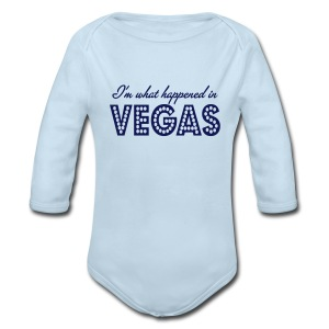 I'm What Happened In Vegas - Long Sleeve Baby Bodysuit