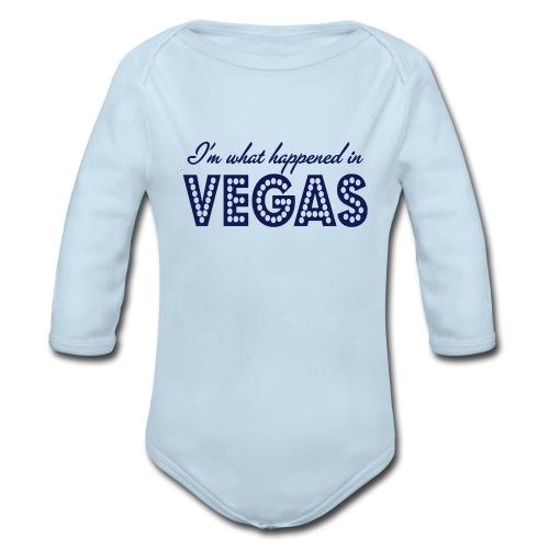 I'm What Happened In Vegas - Organic Long Sleeve Baby Bodysuit