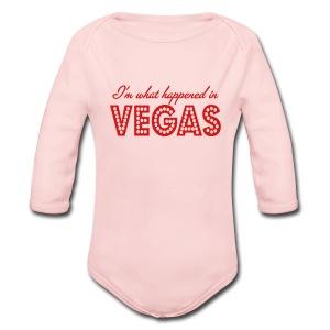 I'm What Happened In Vegas - Long Sleeve Baby Bodysuit