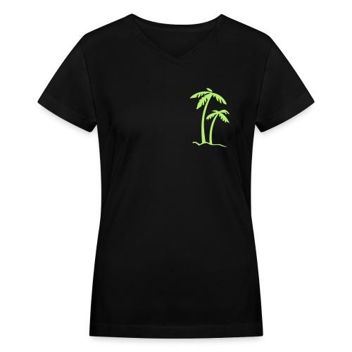 Palm T - Women's V-Neck T-Shirt