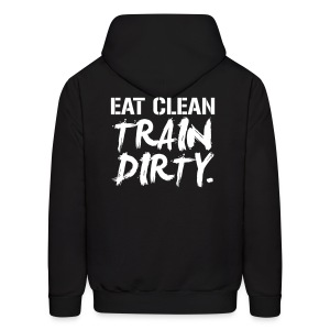 (Back Print) Train dirty mens hoodie - Men's Hoodie