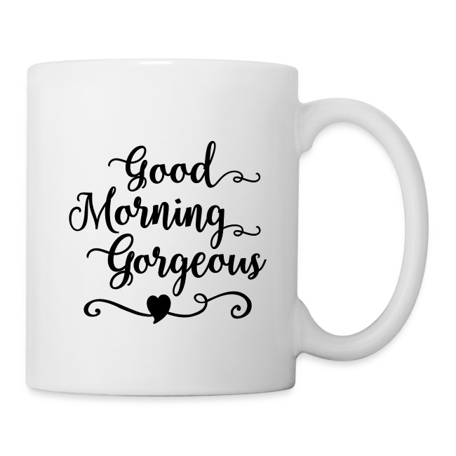 Pink Ink Art T Shirts And Gifts Good Morning Gorgeous Mug