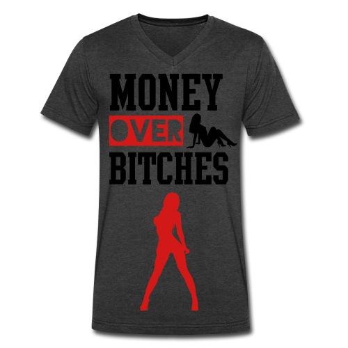 money over women - Men's V-Neck T-Shirt by Canvas
