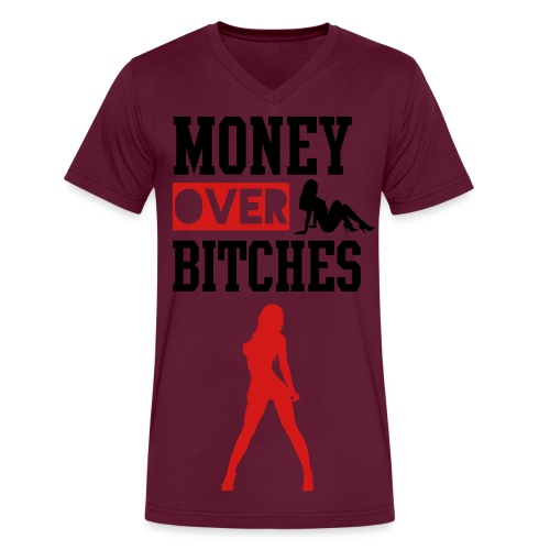 money over women - Men's V-Neck T-Shirt by Canvas
