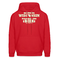 Hoodies ~ Men's Hoodie ~ Born in Wisconsin - Glow in the Dark
