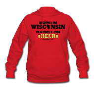 Hoodies ~ Women's Hoodie ~ Born in Wisconsin  Raised on Beer
