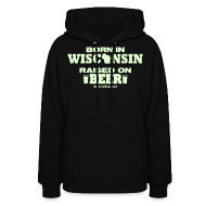 Hoodies ~ Women's Hoodie ~ Born in Wisconsin - Glow in the Dark