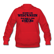 Hoodies ~ Women's Hoodie ~ Born in Wisconsin - Black Glitz