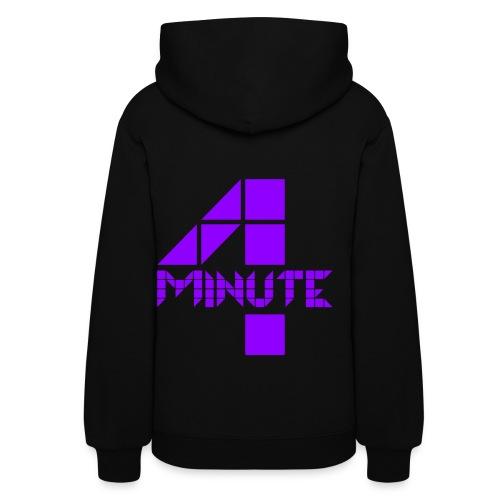 4Minute Logo in Purple Women's Hoodie - Women's Hoodie