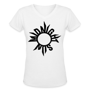 B2ST Midnight Sun in Black Women's V-Neck - Women's V-Neck T-Shirt