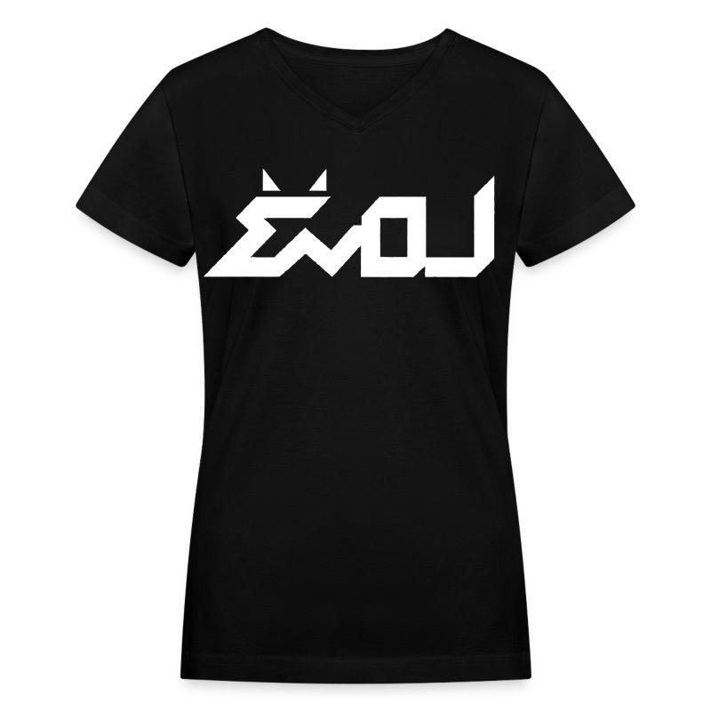 Evol Logo In White Women 39 S V Neck T Shirt Spreadshirt