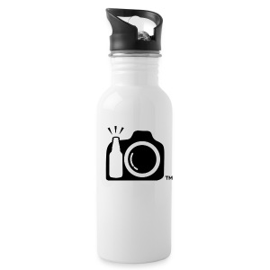 Drink and Click Aluminum Bottle - Black Logo Only - Water Bottle