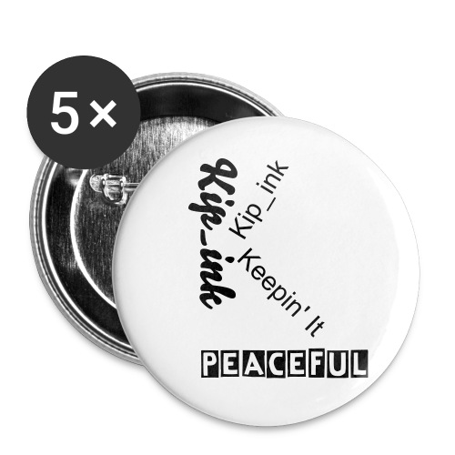 Original Keepin' it Peaceful buttons! - Buttons large 2.2'' (5-pack)
