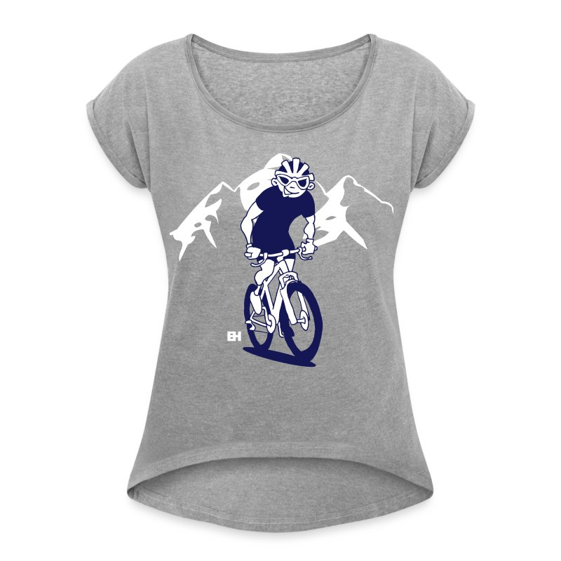 Mountainbike V bc - Women's Roll Cuff T-Shirt
