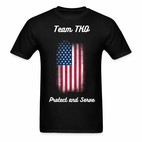 USA Protect and Serve  - Men's T-Shirt