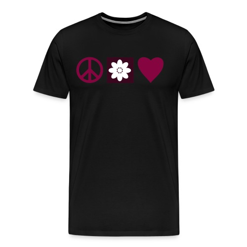 Peace & Love - Men's Premium T-Shirt