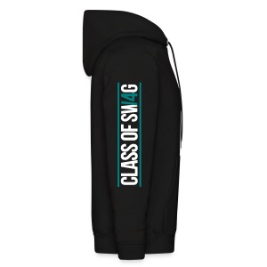 Class of Swag 2014 - Logo on Sleeves (Teal With Bands) - Men's Hoodie