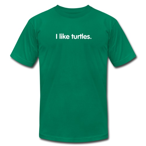 I like turtles. - Men's Fine Jersey T-Shirt