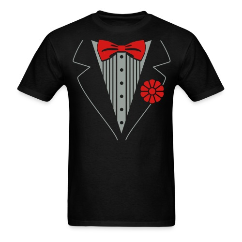 Men's T-Shirt - tuxedo shirt,shirt fan,sharp,prom outfit,humor,casual,Tuxedo