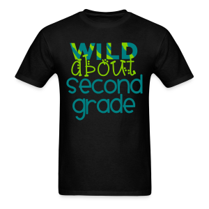 Wild About Second Grade | Teal - Men's T-Shirt