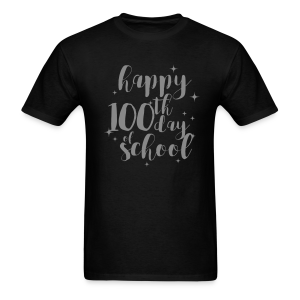 Silver GLITZY Happy 100th Day of School - Men's T-Shirt