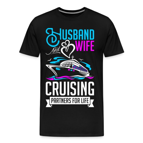 Husband And Wife Cruising - Men's Premium T-Shirt