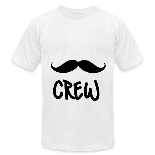 MUSTACHE CREW  - Men's Fine Jersey T-Shirt