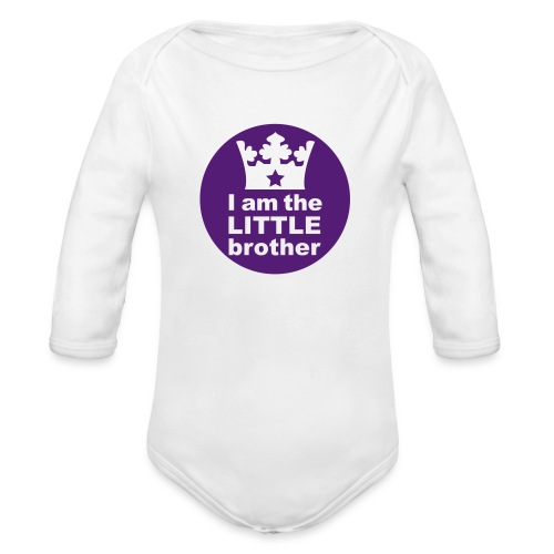 Little brother - Organic Long Sleeve Baby Bodysuit