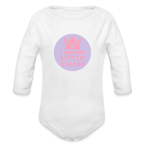 Little sister - Organic Long Sleeve Baby Bodysuit