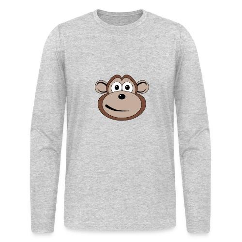 Cartoon Monkey Face - Men's Long Sleeve T-Shirt by Next Level