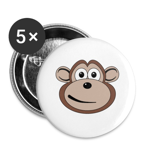 Cartoon Monkey Face - Large Buttons