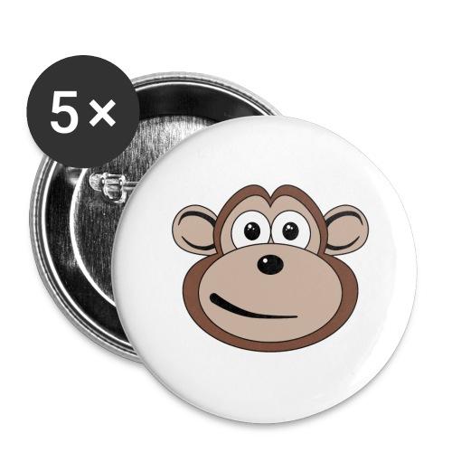 Cartoon Monkey Face - Small Buttons