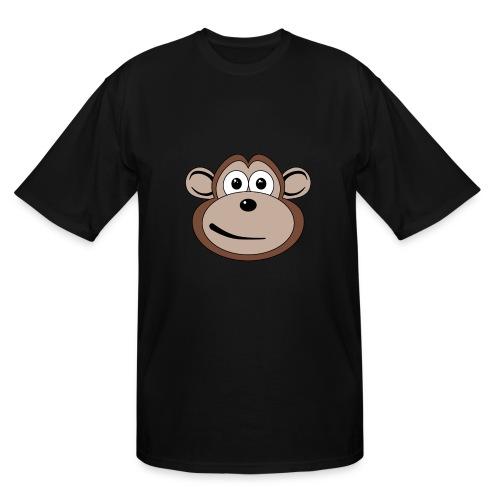 Cartoon Monkey Face - Men's Tall T-Shirt