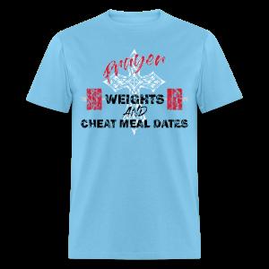 Men's T-Shirt - women,strength,squat,powerlifting,power,jesus,gym,fitness,deadlift,crossfit,church,christian,bible,bench press,Coach