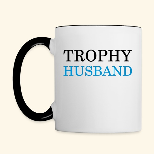 Trophy husband mug - Contrast Coffee Mug