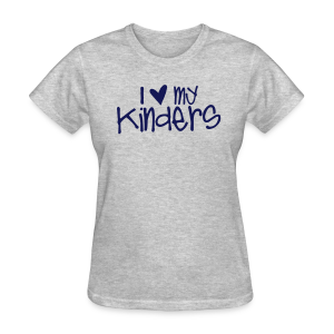 Love My Kinders | Navy - Women's T-Shirt