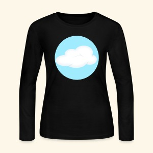 Womens Black Cloud Nest Long Sleeved Shirt - Women's Long Sleeve Jersey T-Shirt