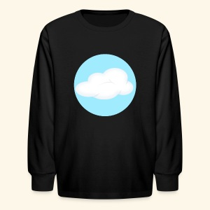 Kids Black Cloud Nest Long Sleeved Shirt - Kids' Long Sleeve T-Shirt